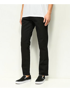 Free World Night Train Stretch Pure Black Jeans by Free World