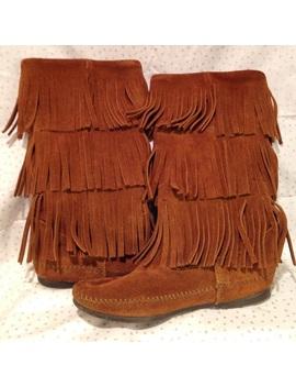 Euc Minnetonka 3 Layer Fringe Boots by Minnetonka