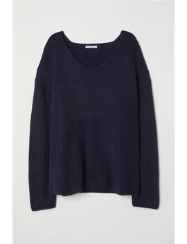 Cashmere Sweater With V Neck by H&M