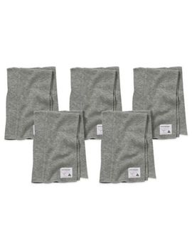 Burt's Bees Baby® 5 Pack Organic Cotton Burp Cloths In Heather Grey by Bed Bath And Beyond