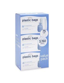 Ubbi® Diaper Pail 75 Count Value Pack Plastic Bags by Bed Bath And Beyond