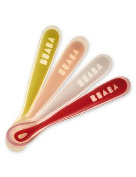 Beaba® First Stage Silicone Baby Spoons (Set Of 4) In Neon by Bed Bath And Beyond