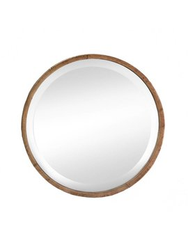 Zingz & Thingz Round Wood Frame Wall Mirror & Reviews by Zingz & Thingz