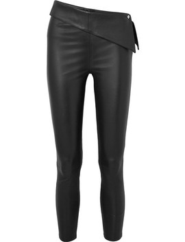 Rumer Cropped Stretch Leather Leggings by Rt A