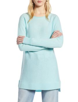 High/Low Wool & Cashmere Tunic Sweater by Halogen®