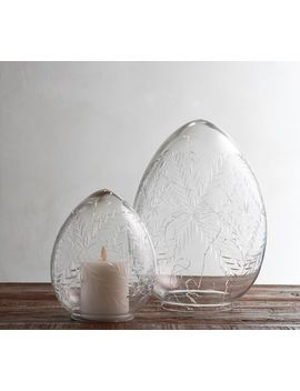 Etched Glass Eggs by Pottery Barn