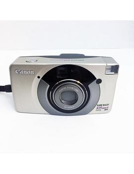 Vintage Canon Sure Shot 105 Zoom 35mm Point Shoot Film Camera Tested Works Sureshot Zoom Lens by Etsy