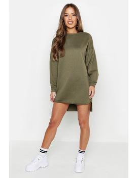 Petite Balloon Sleeve Sweat Dress by Boohoo