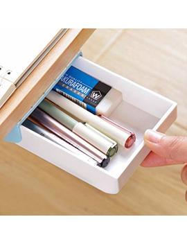 Nakimo Drawer Pencil Tray Self Adhesive Pop Up Hidden Desktop Organizer (Blue) by Nakimo