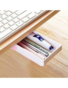 Nakimo Drawer Pencil Tray Self Adhesive Pop Up Hidden Desktop Organizer (Pink) by Nakimo