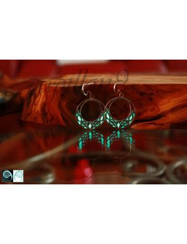 Celtic Knots Earrings / Glow In The Dark / Sterling Silver Earrings / Celtic Earrings / Round Earrings /   03 by Etsy