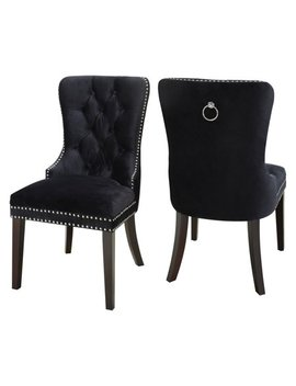 Meridian Furniture Inc Nikki Velvet Dining Chair   Set Of 2 by Meridian Furniture