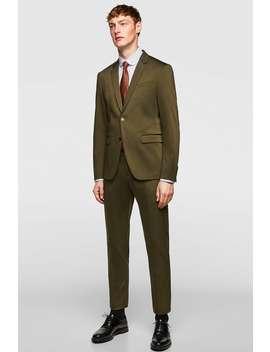 Technische Kostuumbroek  Tailored Broeken Heren Uitverkoop by Zara