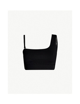 Circular Knit Stretch Jersey And Mesh Sports Bra by Ivy Park