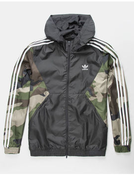 Adidas Camouflage Mens Windbreaker Jacket by Adidas