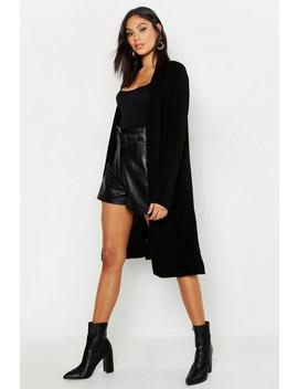 Tall Long Edge To Edge Cardigan by Boohoo