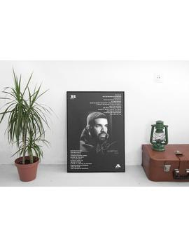 Drake   Scorpion (Album Cover + Tracklist) Poster   (A3, A2, A1) by Etsy