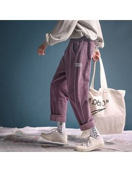 Jun.Lee   Corduroy Straight Fit Pants by Jun.Lee