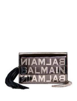 Pochette Logo Mirror Leather Crossbody Bag by Balmain