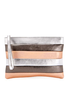 Colorblock Striped Pochette Wallet by Balmain