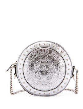 disco-metallic-circle-crossbody-bag by balmain