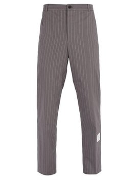 Pinstripe Cotton Trousers by Thom Browne