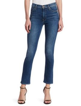Dazzler Mid Rise Ankle Straight Leg Jeans by Mother