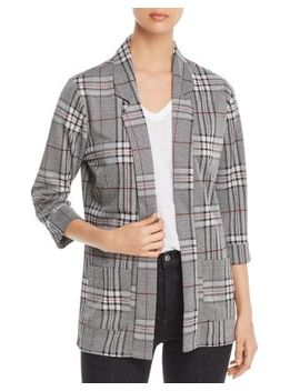 Long Plaid Blazer by Alison Andrews