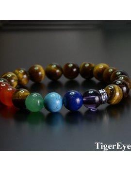 7 Chakra Bead Bracelet Men & Women   Hematite   Lava   Tiger Eye   Lapis Lazuli   Amethyst   Onyx   Green Aventurine   Turquoise by Etsy