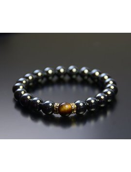 Hematite Chakra Attraction Bead Bracelet Healing For Men & Women 10mm by Etsy
