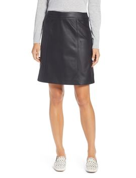 Leather Miniskirt by Halogen®
