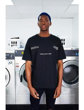 Man Care Label Front & Back Print T Shirt by Boohoo