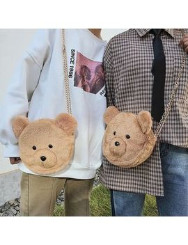 Oucha   Bear Shaped Furry Crossbody Bag by Oucha