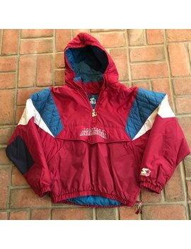 Vintage Colorado Avalanche Pullover Winter Jacket Parka Nhl Hockey By Starter Youth Large by Etsy