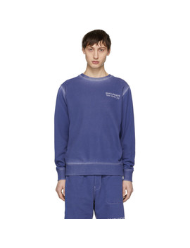 Ssense Exclusive Blue Bowery Sweatshirt by Saturdays Nyc