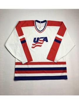 1990s Vintage Team Usa Ccm Jersey Hockey Jersey | Team United States Of America Nhl Ice Hockey Jersey | American Flag 90s Hip Hop Clothing by Etsy
