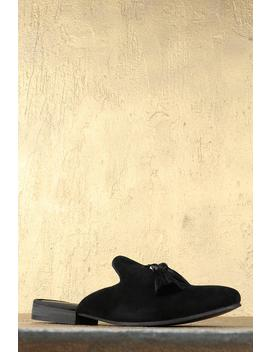 Faux Suede Open Back Loafer by Boohoo