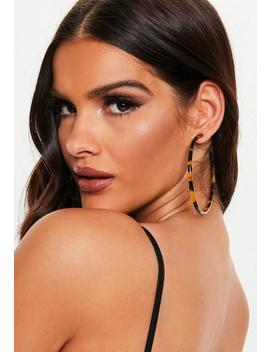 Brown Tortoiseshell Oversized Hoop Earrings by Missguided
