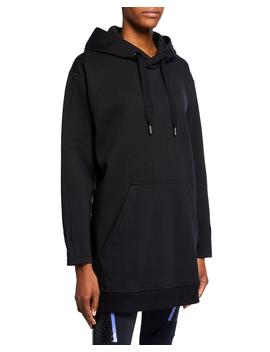 Oversized Pullover Hoodie W/ Snake Print Sides by Adidas By Stella Mc Cartney