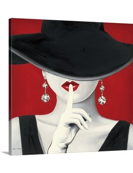 Great Big Canvas 'haute Chapeau Rouge I' By Marco Fabiano Painting Print & Reviews by Great Big Canvas