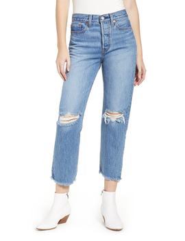 Wedgie High Waist Ripped Crop Straight Leg Jeans by Levi's®
