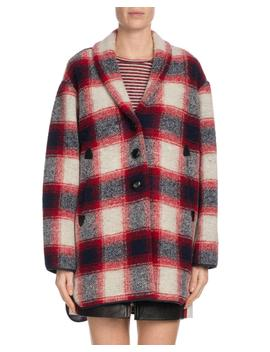Gabrie Plaid Wool Blend Coat by Neiman Marcus
