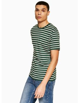 Green And White T Shirt by Topman