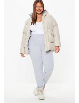 Plus Size Cream Ultimate Hooded Puffer Jacket by Missguided