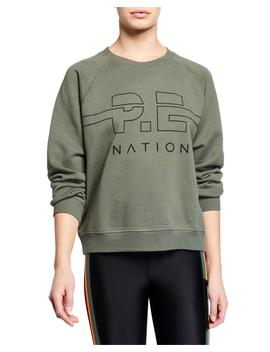 Swingman Raglan Logo Pullover Sweatshirt by Pe Nation