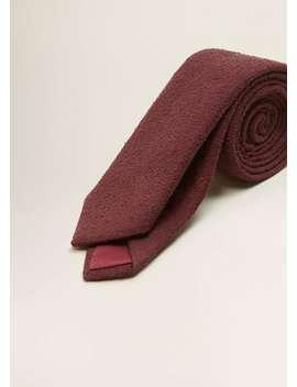 Textured Cotton Tie by Mango