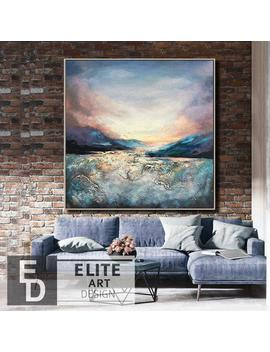 Painting Abstract Landscape Sunset Painting Canvas Xl Abstract Painting Simple Abstract Art Home Wall Decorating Birthday Gifts For Women by Etsy