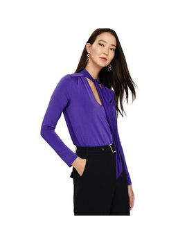 Phase Eight   Violet Tyra Tie Neck Top by Phase Eight