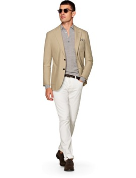 Jort Light Brown Jacket by Suitsupply