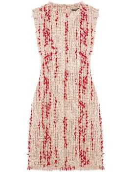 Frayed Tweed Mini Dress by Alexander Mcqueen